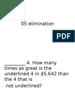 2005 Elimination