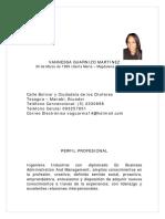 Hoja de Vida S EC - Vannessa Guarnizo Martinez