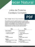 Cardapio Completo Da Dieta Da Proteina