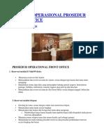 Standar Operasional Prosedur Front Office