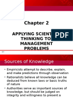 2 Applying Scientific Thinking to Management Problems