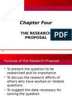 4 the Research Proposal