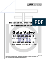 Gate Valve Installation Operation & Maintenance Manual