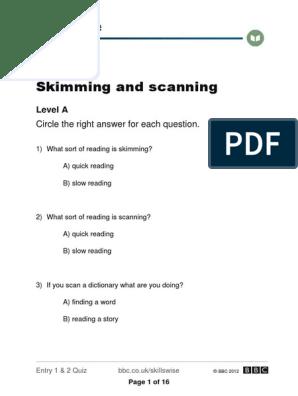 quiz 1 | Speed Reading | Quiz