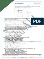 Série d'Exercices - Chimie Série Loi de Modération Et Loi d'Action de Masse - Bac Math (2013-2014) Mr Afdal Ali