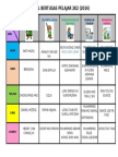 Template Jadual Bertugas Kelas