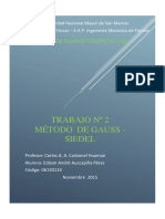 METODO DE GAUSS - SIEDEL