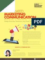 Integrated Marketing Communication 2016 Jakarta