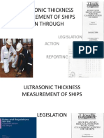 Ultrasonic Thickness Measurement of Ships