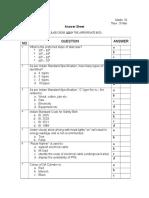 Pretrainign- Test Question