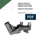 Parker Hand Pump Bul HY14-3000-M1 914 915 916