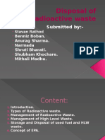 Disposal of Radioctive Waste