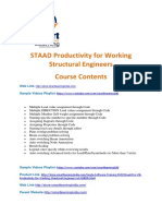 Staad.pro V8i Productivity for Working Structural