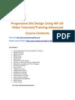 Progressive Die Design Using NX-10-Video TutorialsTraining-Advanced Level-2
