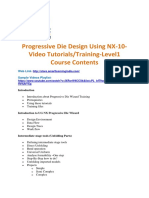 Progressive Die Design Using NX-10-Video TutorialsTraining-Level1