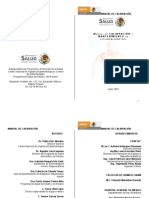 Manual de Calibracion y Mantenimiento de Esfigmomanometro