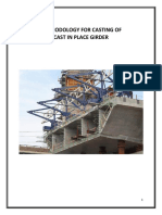 Methodology for Cast in Place Girder Casting
