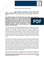 """IQ4I Research & Consultancy published a new report on """"3D Cell Culture Global Market  – Forecast To 2021"""""""