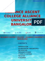 Alliance Ascent College Bangalore|MBA|Alliance University