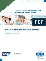 SAP-Webinare Anwender 2016