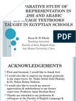 Gender Representation English and Arabic Textbooks