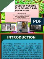 Vending Machine Challenges