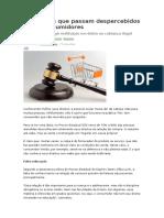 CONSUMIDOR-10 Direitos Que Passam Despercebidos Pelos Consumidores