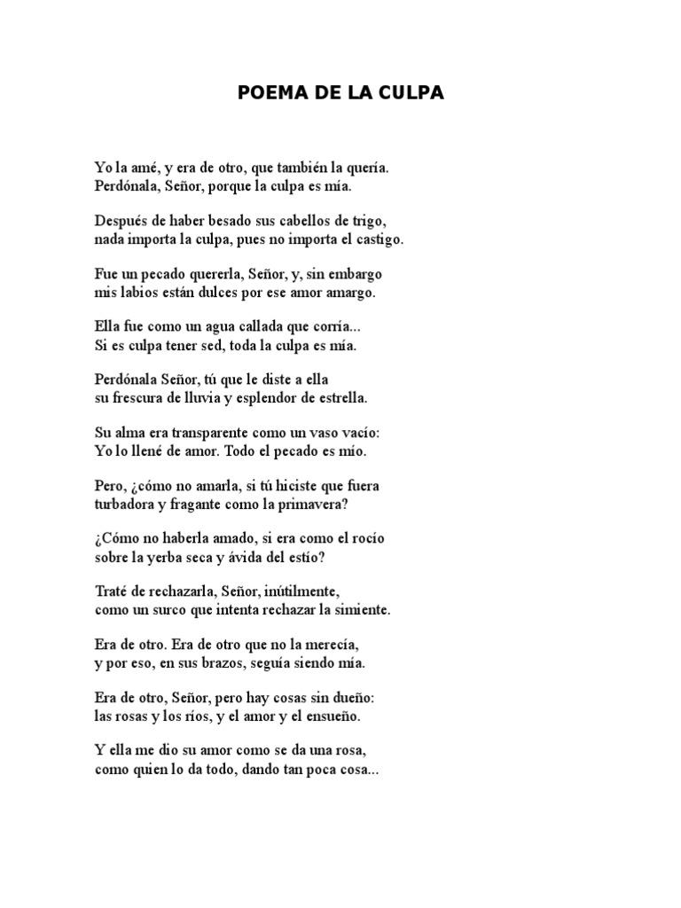Poema De La Culpa