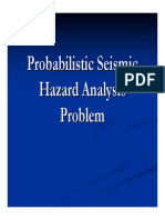 Probabilistic Seismic Hazard Analysis Problem
