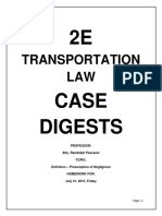 Trasnportation Law Case Digests 1