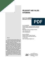 RELIGIOSITY AND VALUES IN ROMANIA