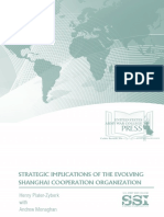 Strategic Implications of the Evolving Shanghai Cooperation Organization