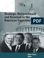 Strategic Retrenchment and Renewal in the American Experience