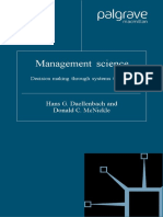 Management Science Decision Making Through Systems Thinking