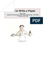 ASHBY, M. - How to Write a Paper (6th Ed., Cambridge, 2005)