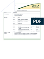 Pakistan International Airlines - Print Details