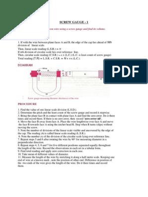 screw gauge diagram physics experiment 2 standard deviation plane  geometry   physics experiment 2 standard