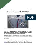 20 Minutes.fr a Quoi Sert La CFE-CGC - 18 Avril 2013