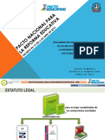 Presentacion Pedagogica - Pacto Educativo - Decreto 84-15 - Reglamento