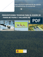 Prescripciones Tecnicas Diseño Pasos de Fauna y Vallados - Min MA