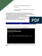 Cara Instalasi Windows 98SE