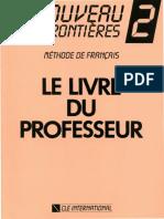 LE NOUVEAU SANS FRONTIÈRES 2 - Méthode de Français - Le Livre du professeur.pdf
