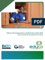Informe de Transparencia y Rendición de Cuentas 2014 EDUCO