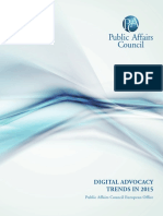 European Digital Advocacy Trends Survey 2015