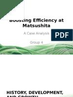 Boosting Efficiency at Matsushita