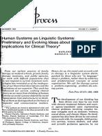 Sistemas humanos como sistemas lingüísticos