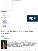 Everything You'Ve Wanted to Know About Drug Addiction ENCOGNITIVE.com