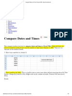 Compare Dates and Times in Excel VBA - Easy Excel Macros