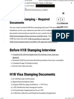 Here's Complete List of H1B Visa Stamping Required Documents