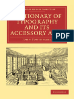 (Cambridge Library Collection_ History of Printing, Publishing and Libraries) John Southward-Dictionary of Typography and Its Accessory Arts-Cambridge University Press (2010)